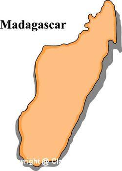 Madagascar Country Clipart.