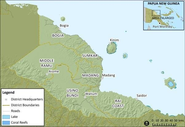 The Districts of Madang Province 3.2. Economy The Province.