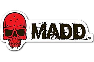 Madd Logo Red Sticker (202.