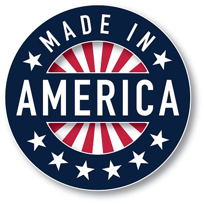 Made in AMERICA vector Clipart Image.