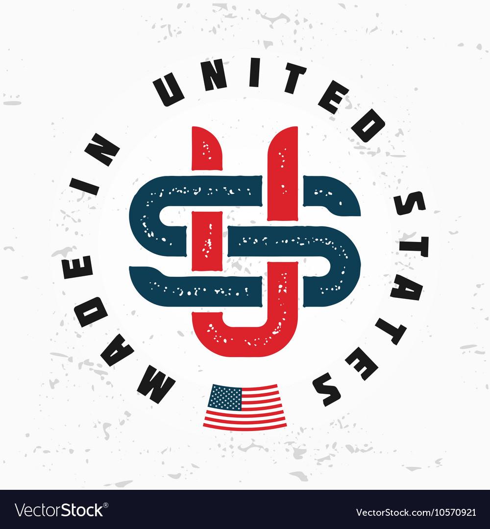 Made in USA monogram Vintage America logo.