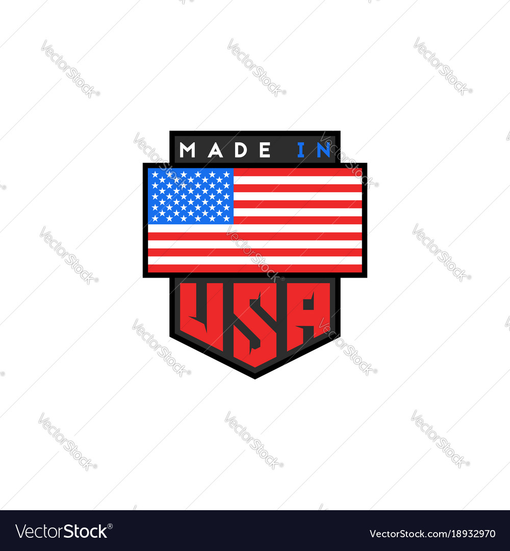 Made in usa logo design american quality.