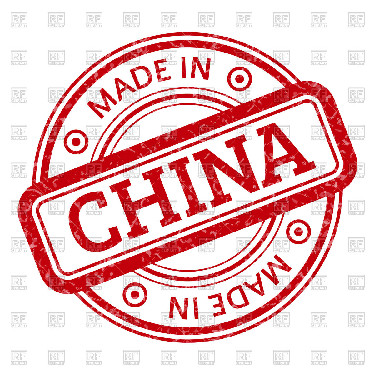 Round stamp Made in China Vector Image #67720.
