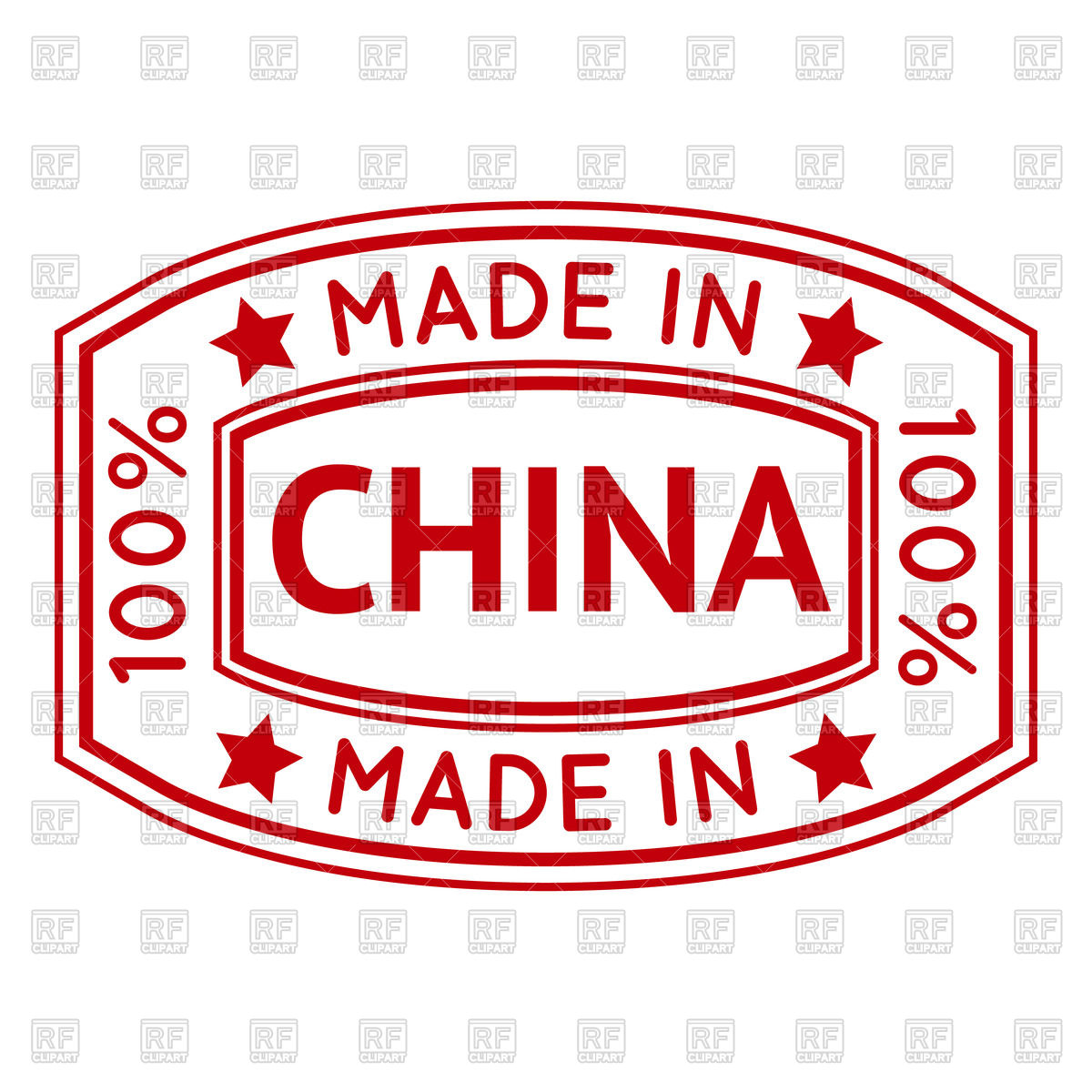 Made in China red stamp Vector Image #69565.