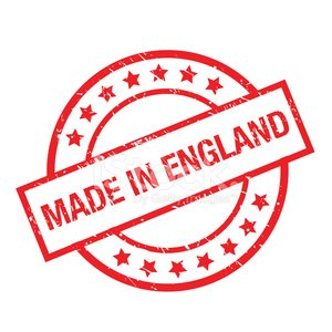 made in england rubber stamp Clipart Image.