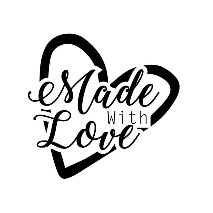 Made with Love Phrase Graphics SVG Dxf EPS Png Cdr Ai Pdf Vector Art  Clipart instant download Digital Cut Print File Cricut Decal.