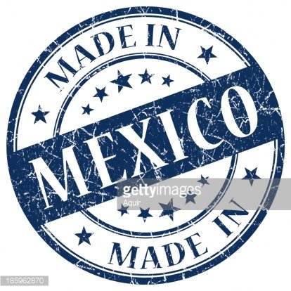 made in Mexico grunge stamp Clipart Image.