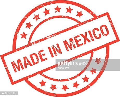 Made IN Mexico Rubber Stamp premium clipart.