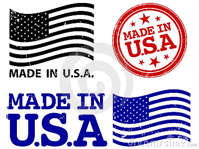 Made In The USA Stock Photography.