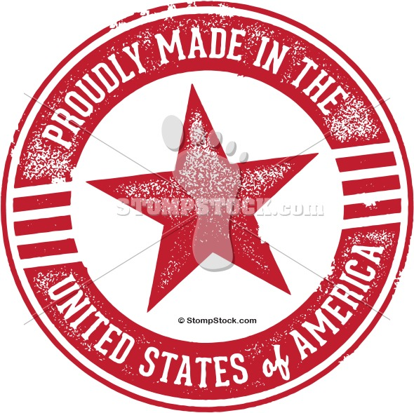 Made in USA Rubber Stamp Clip Art.