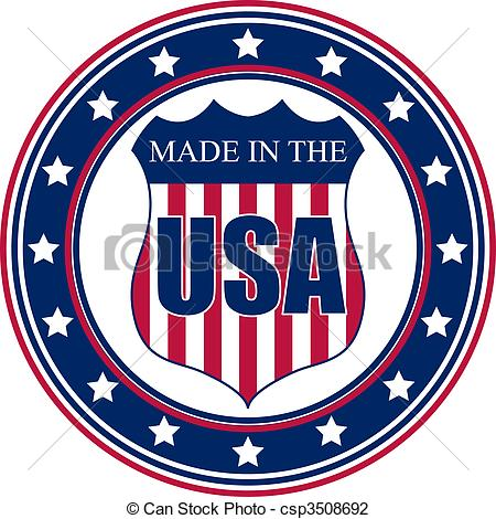 Vector Illustration of Made in the USA stamp.