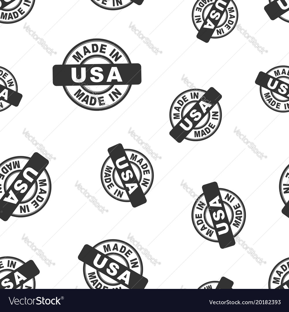 Made in usa stamp seamless pattern background.