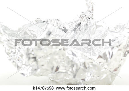 Pictures of Abstract figure made of aluminium foil k14787598.