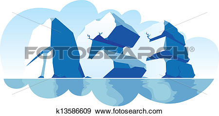 Clip Art of Alphabet made of stone, single word Ice k13586609.