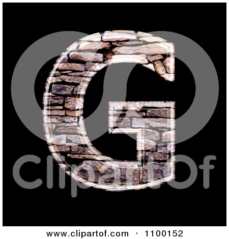 Clipart 3d Lowercase Letter a Made Of Stone Wall Texture.