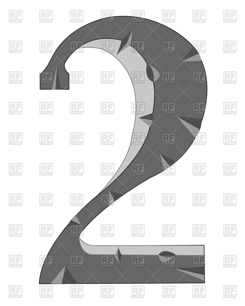 Number 2 made of stone Vector Image #91803.