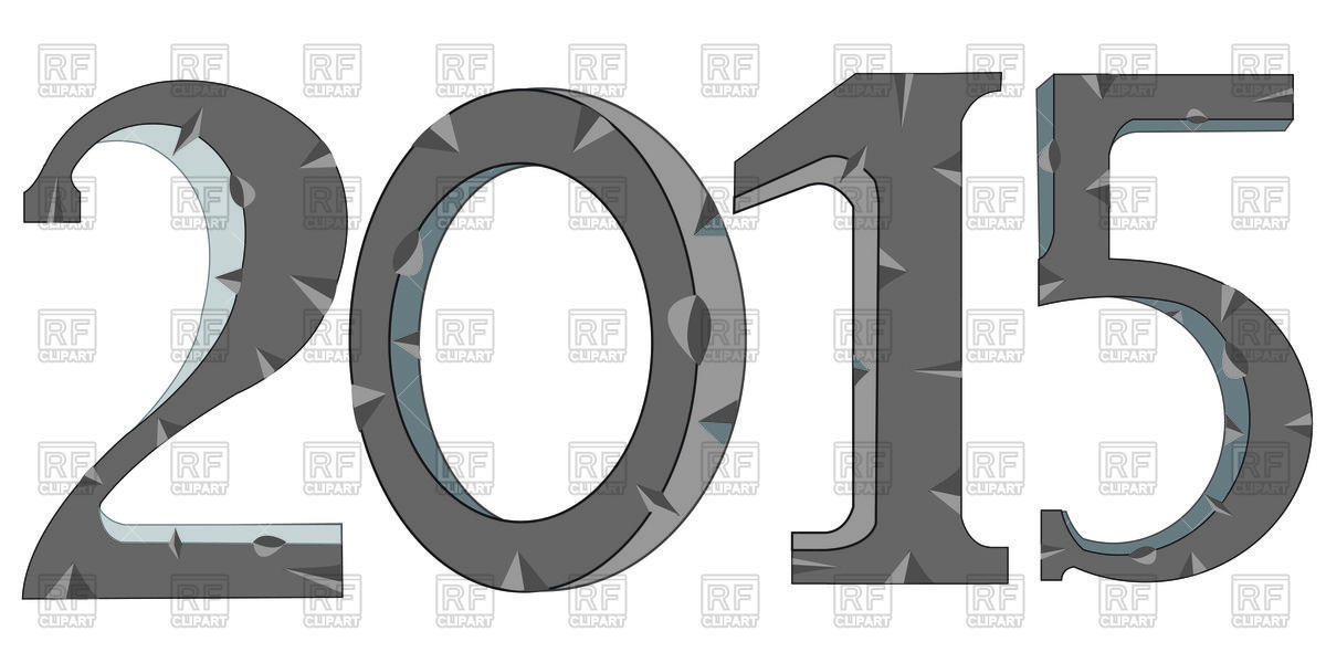 Year 2015 made from stone Vector Image #91764.