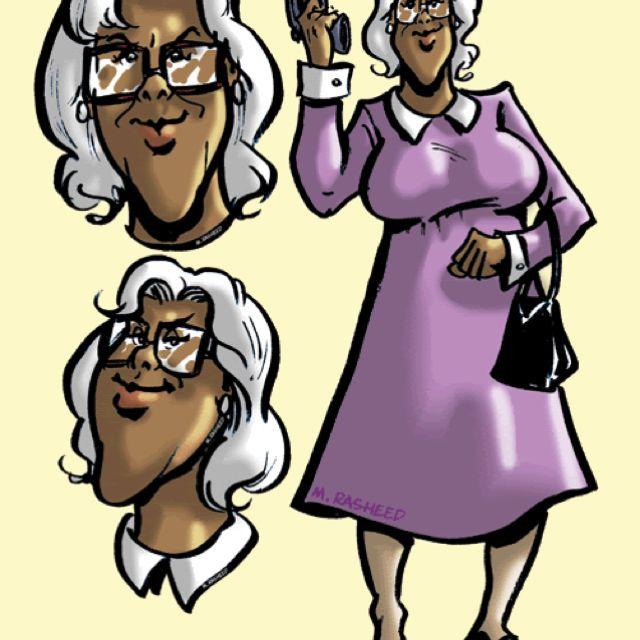 Caricature of Madea.