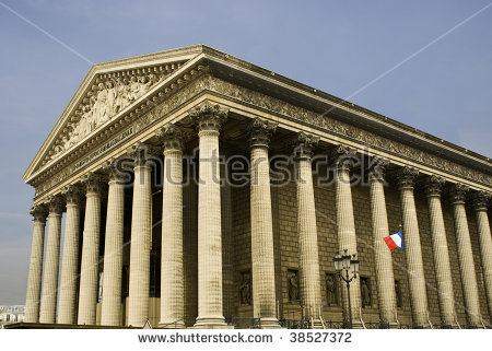 Vector Images, Illustrations and Cliparts: La Madeleine church in.