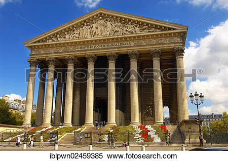 "Stock Image of ""La Madeleine church, Paris, France, Europe."
