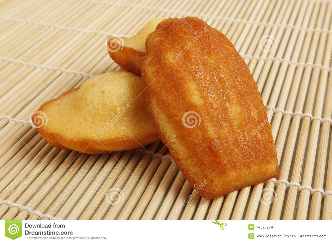 Madeleine Cakes / Biscuits Stock Images.