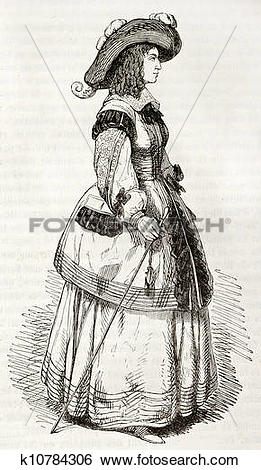 Stock Illustration of Mademoiselle de Montpensier bis k10784306.