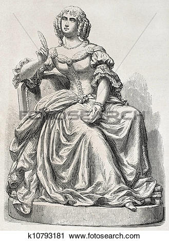 Clipart of Mademoiselle de Sevigne k10793181.