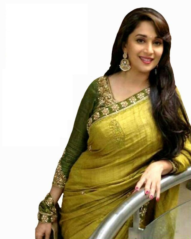 Try And Get Bollywood Replica Madhuri Dixit Green Fancy Designer Saree.