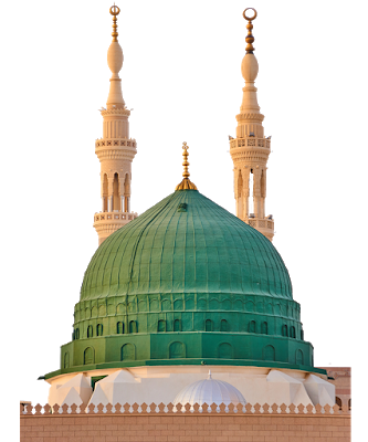 Madina Shareef with no background Two Minar.