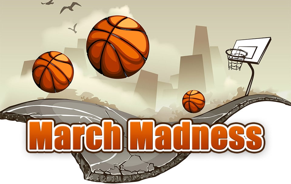 March Madness With Books Clipart.