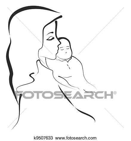 Madonna and Child Clipart.