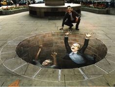 Edgar Mueller is one of the world's top 3d illusionist street.