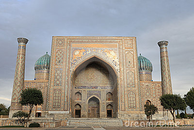 Arch Of Sher Dor Madrasah Royalty Free Stock Images.