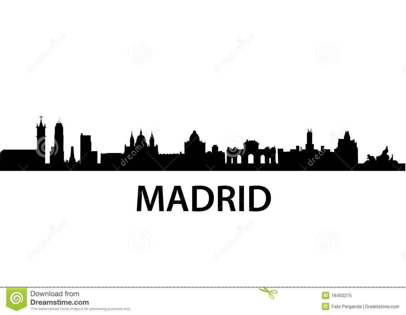 Madrid Stock Illustrations.