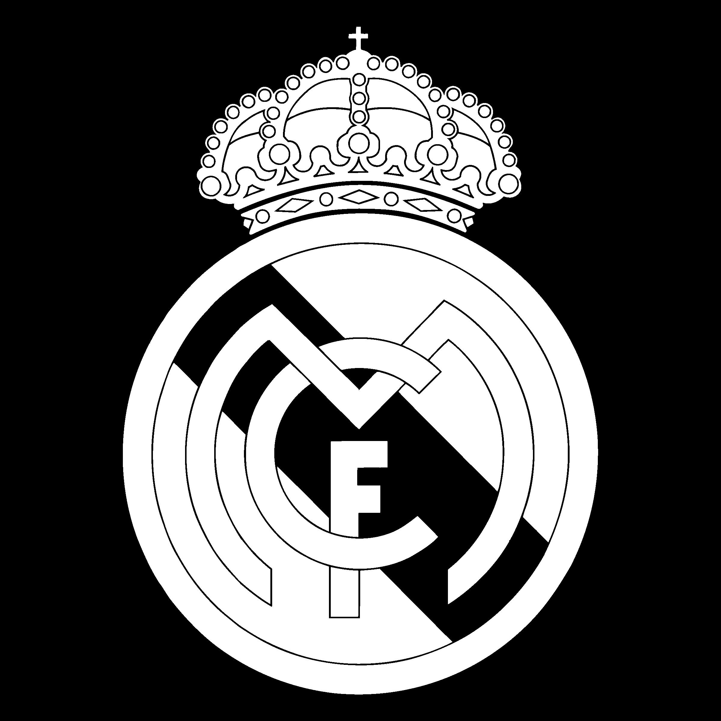 Real Madrid Cf Logo Black And White.