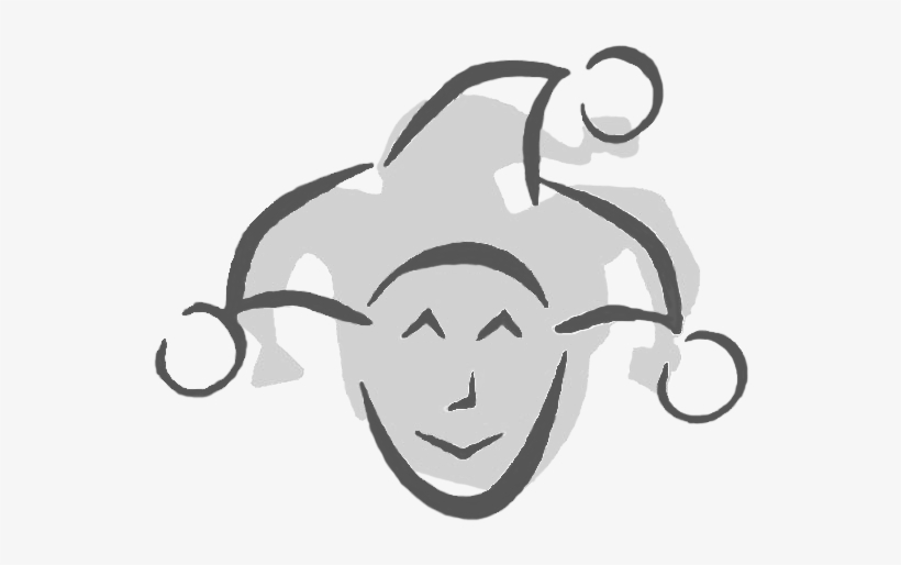 A Clip Art Image Of A Court Jester Head In Shades Of.