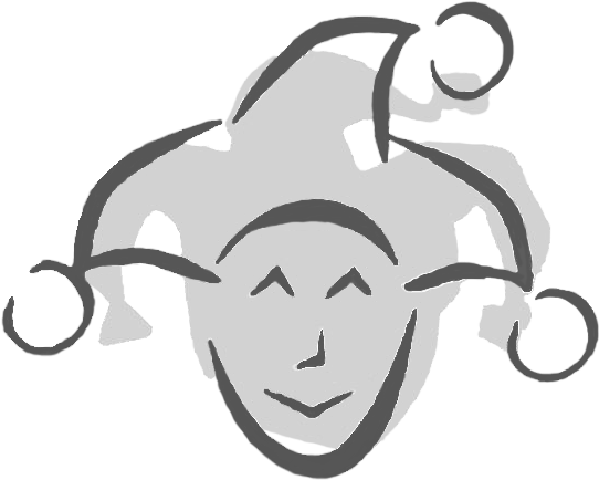 Download A Clip Art Image Of A Court Jester Head In Shades.