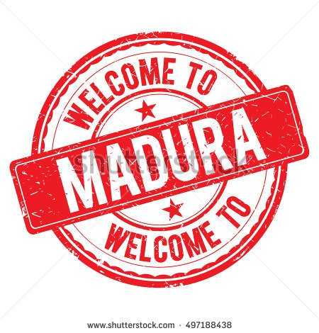 Welcome To Madura Stamp. Stock Vector Illustration 497188438.