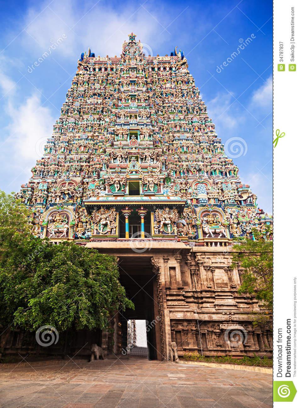 Madurai Meenakshi Temple Hd Clipart.
