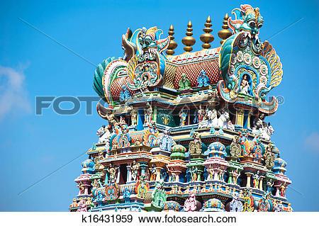 Stock Photograph of Meenakshi Temple in Madurai. India, Madurai.