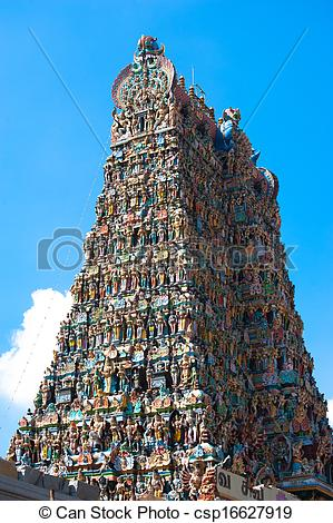 Stock Photography of Great South Indian architecture, Meenakshi.