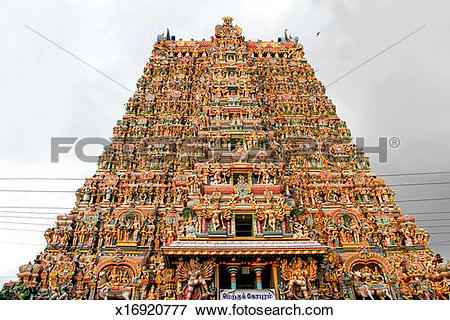 Picture of Meenakshi Amman Temple tower,Madurai x16920777.