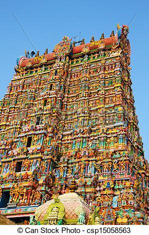 Stock Image of Meenakshi Amman Temple Madurai.
