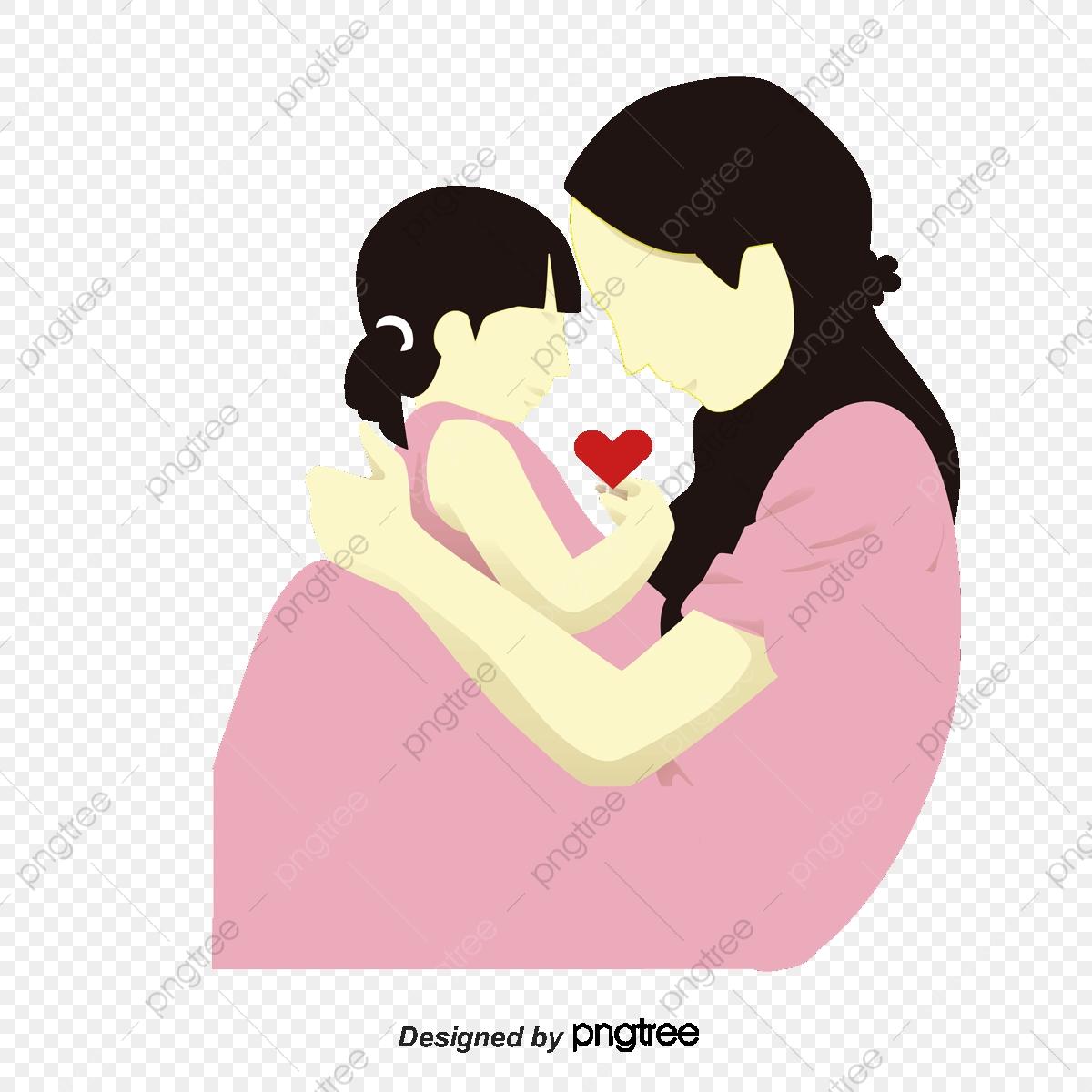 Desenho De Mãe E Filha , Cartoon, Mãe E Filha, Padrão PNG e.