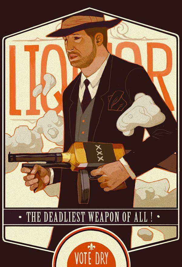 Sachin Teng propaganda, prohibition, poster, illustration.
