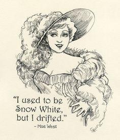 Movie Belle of the Nineties Mae West.