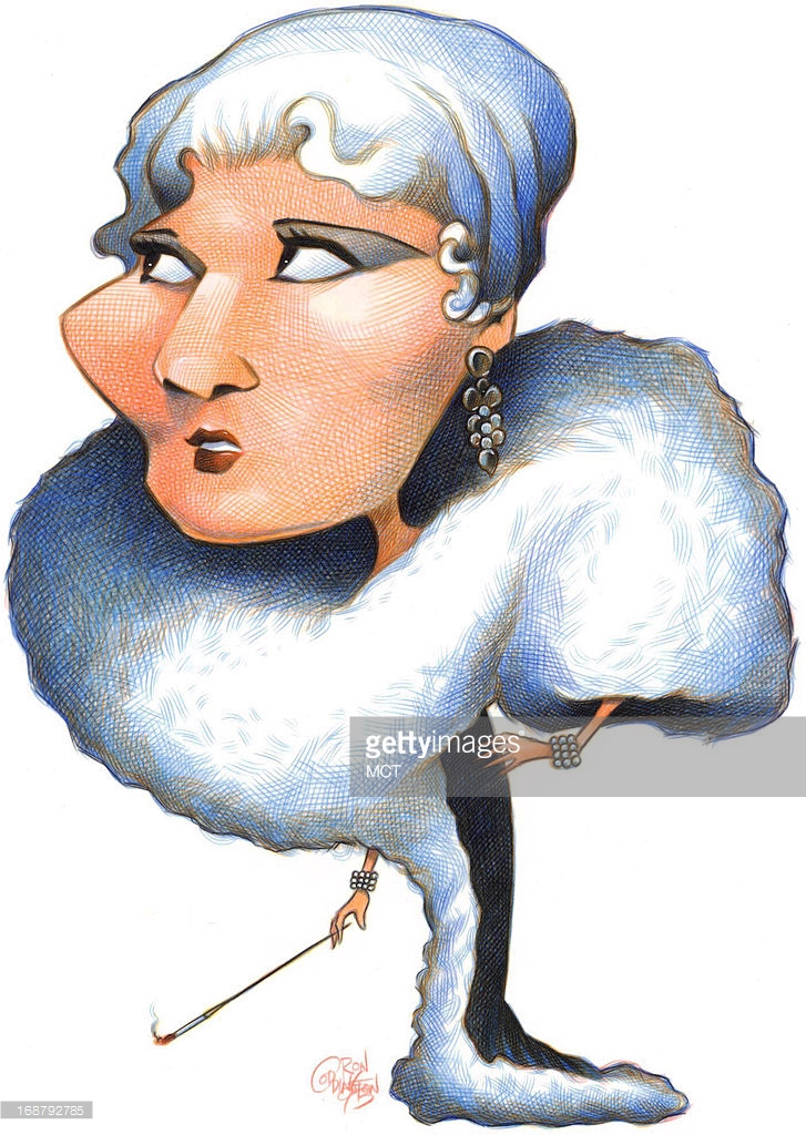 CARICATURE: Mae West Pictures.
