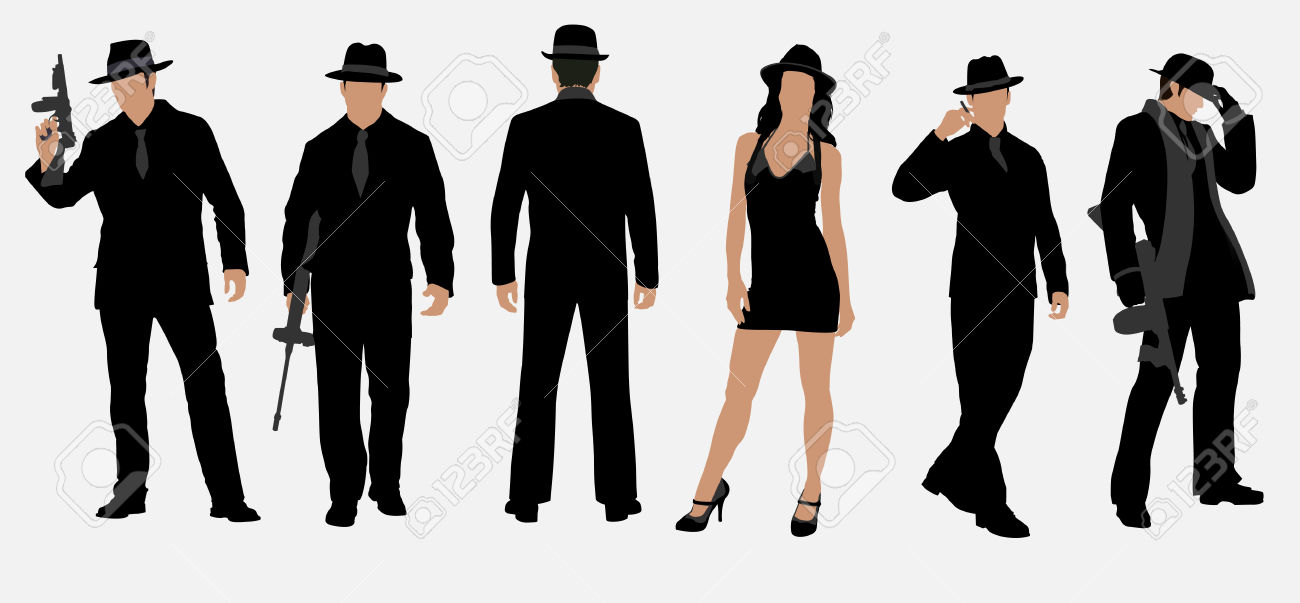 Vector three races as women stock illustration royalty free - Mafia Gangster Woman Clipart Clipground