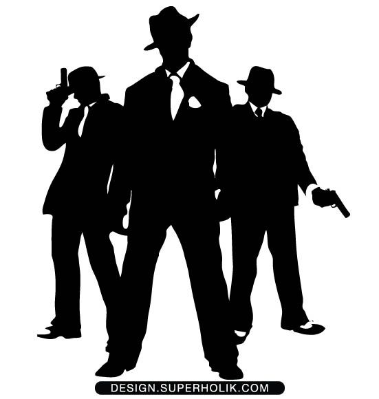 Mafia Black And White Clipart.