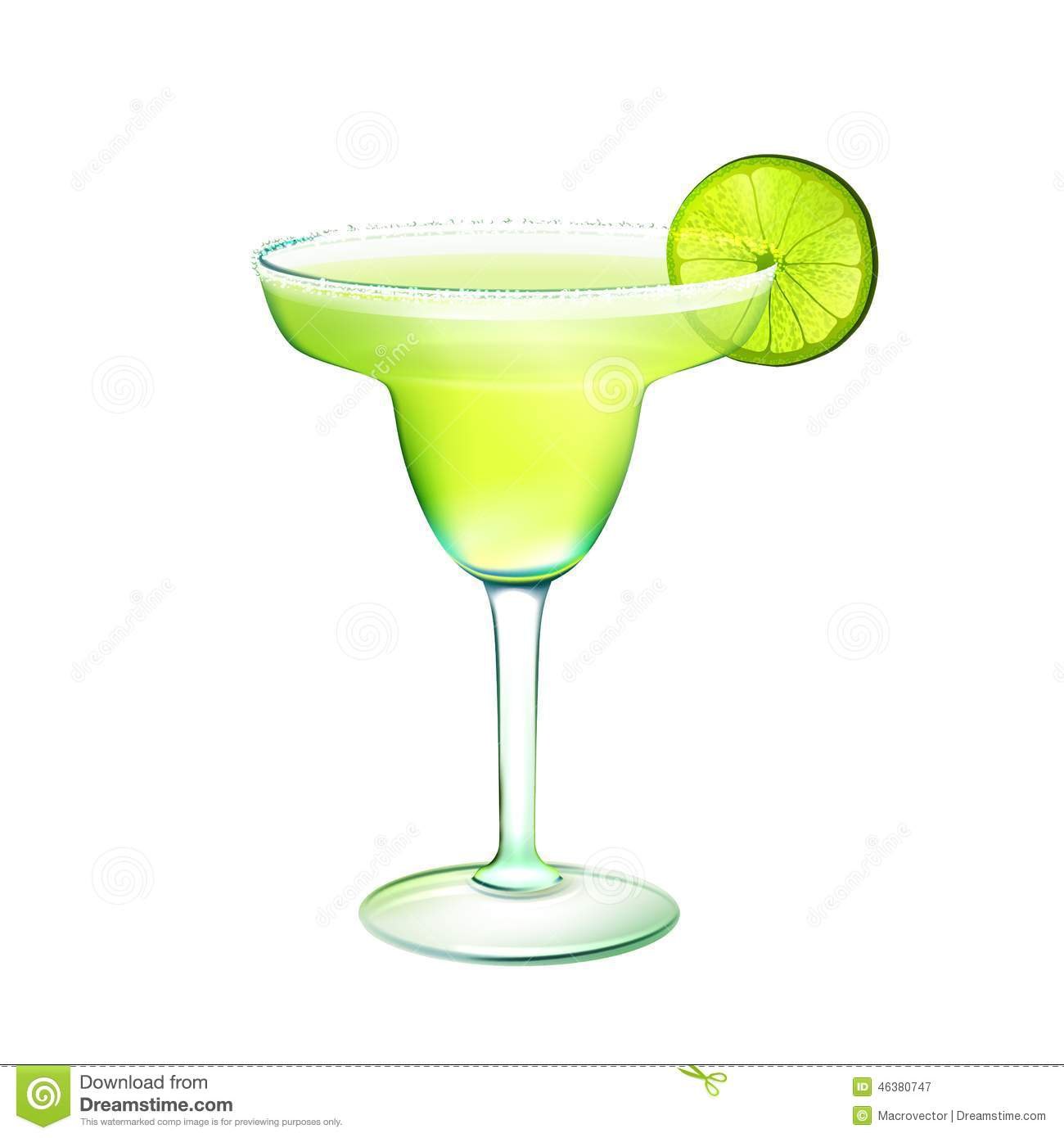 Margarita cocktail clipart.